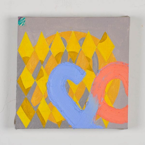 Other event, oil and beeswax with paper and felt tip pen on linen, 25 x 25cm, 2013